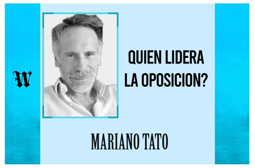 ¿Quién lidera la oposición?