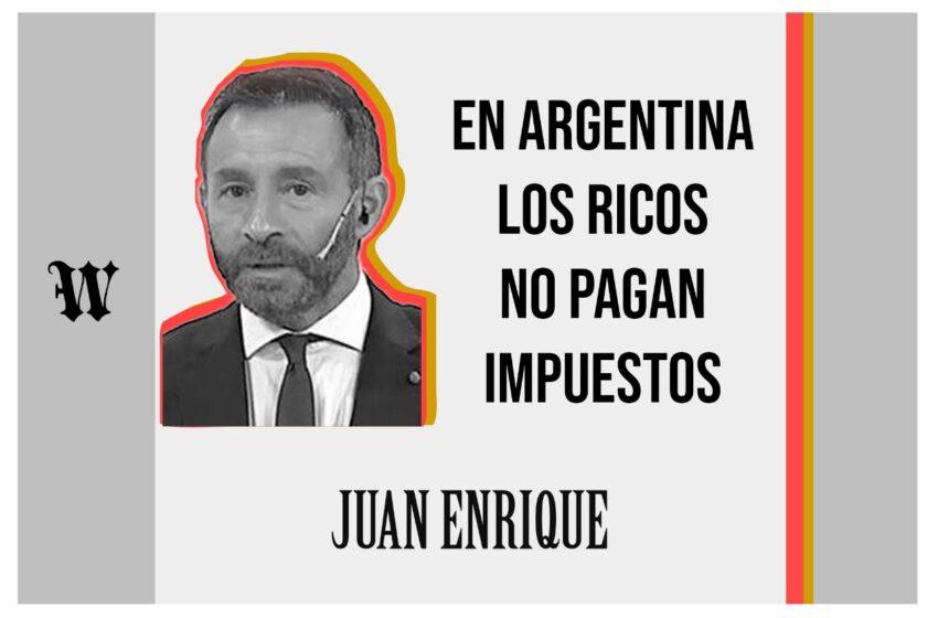 En Argentina los ricos no pagan impuestos