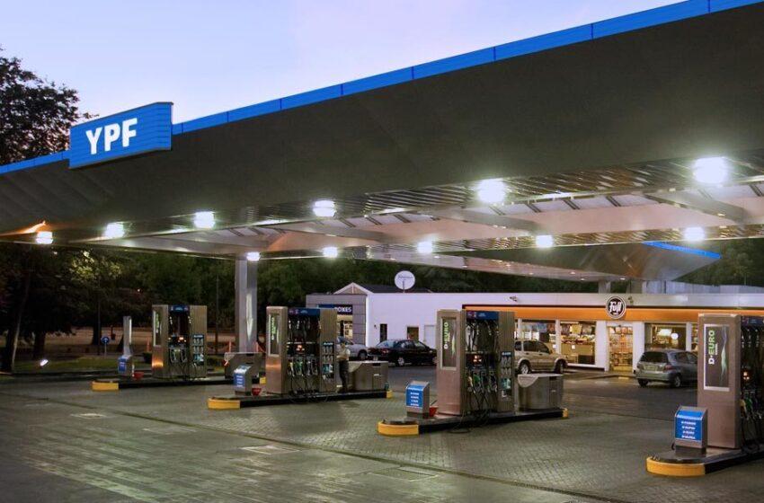 YPF aumenta 2,5% los precios de la nafta y el gasoil