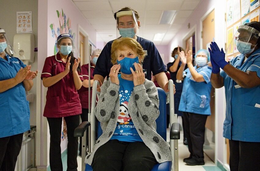 Comenzó la vacunación contra el coronavirus en el Reino Unido