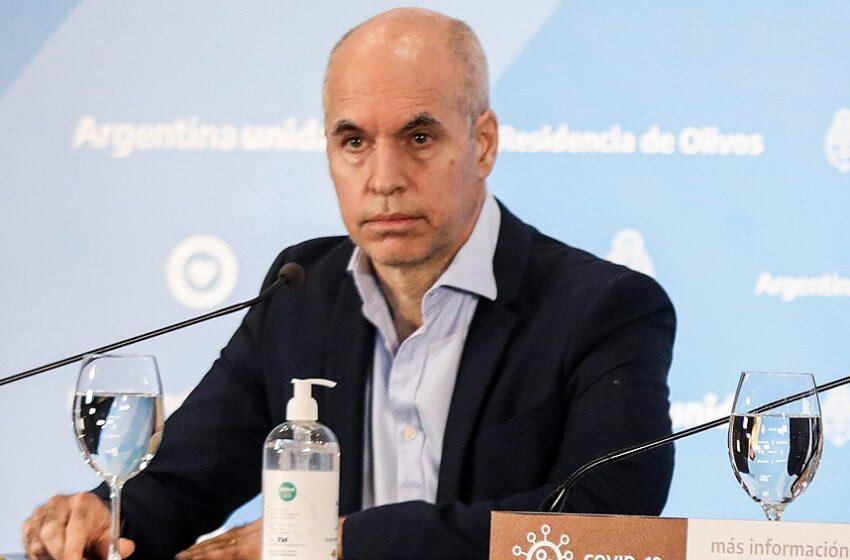Horacio Rodríguez Larreta tiene coronavirus