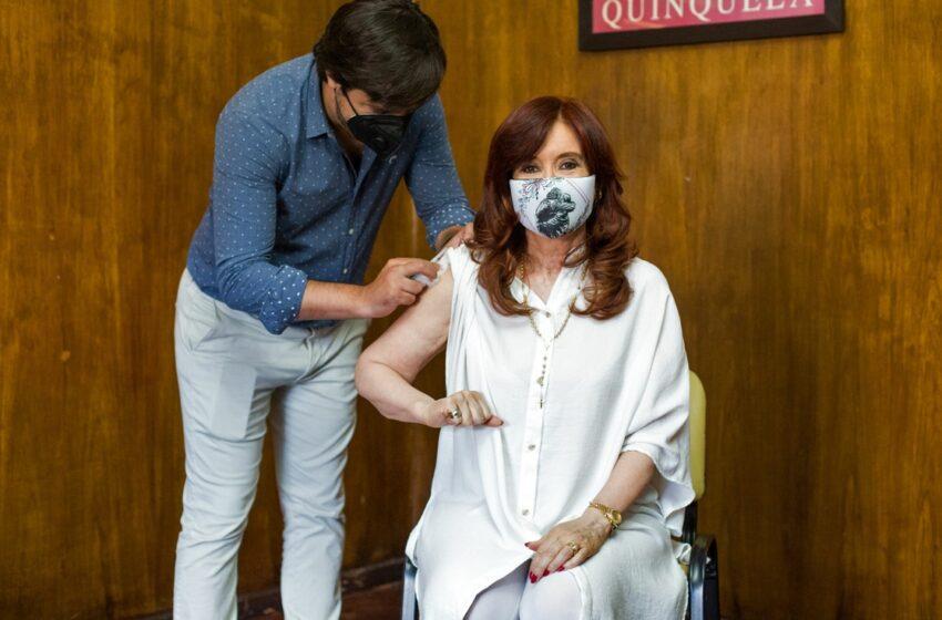 Cristina Kirchner recibió la vacuna Sputnik V