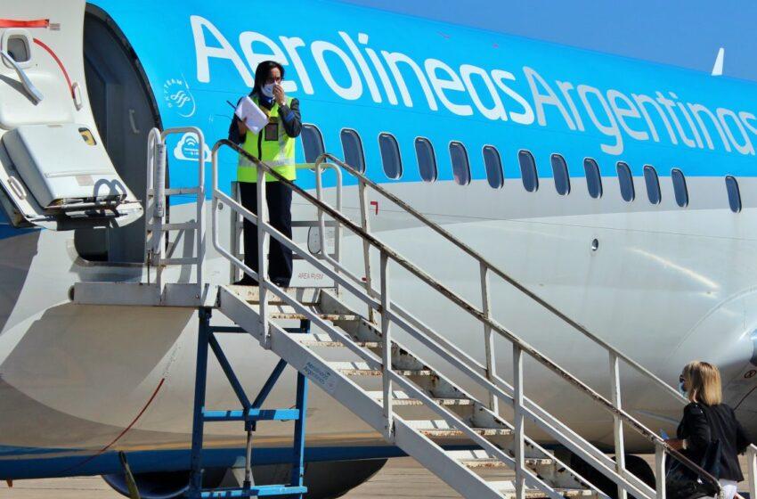 Aerolíneas Argentinas confirmó que el 15 de marzo retoman los vuelos desde Aeroparque