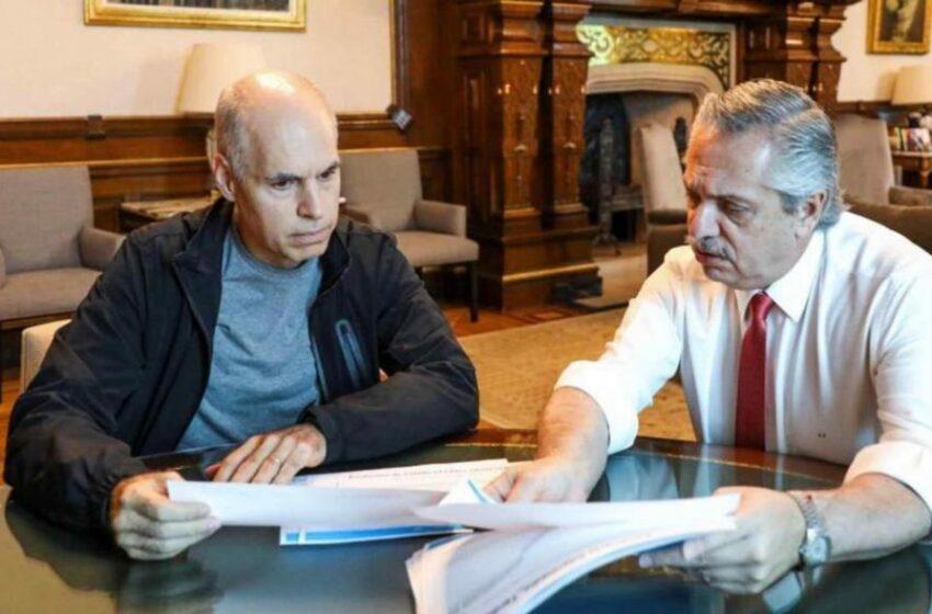 Alberto Fernández recibe hoy a Horacio Rodríguez Larreta en Olivos