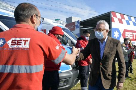 Benavídez: el intendente Julio Zamora presentó nuevos móviles y una base operativa del Sistema de Emergencias Tigre